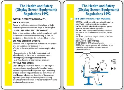 120x80mm The Health & Safety Display Screen Equipment Regulations 1992 Pocket Guide