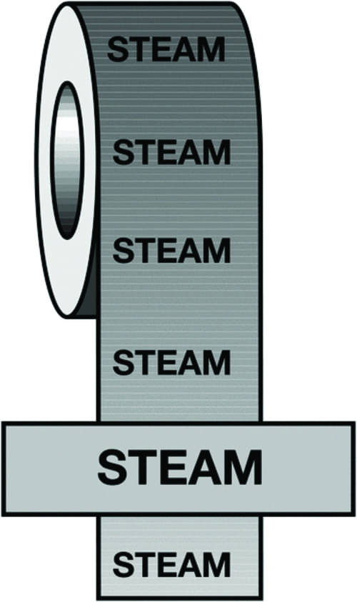 50mmx33m Steam BS Pipeline Marking & Identification Tape