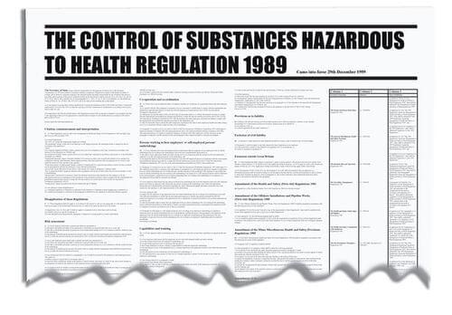 840x570mm COSHH Regulation 1989 Wallchart