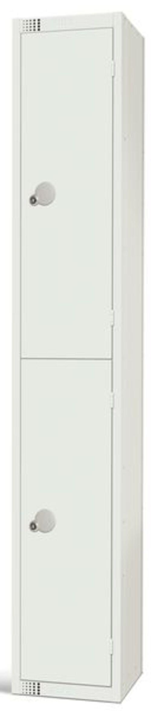 2 CompartmentLocker - White - 1800 x 300 x 300mm