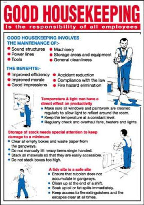 600x420mm Good housekeeping Poster