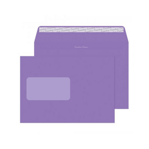 Blake Creative Colour Summer Violet Peel and Seal Wallet Window C5 162x229mm 120gsm (Pack 500)