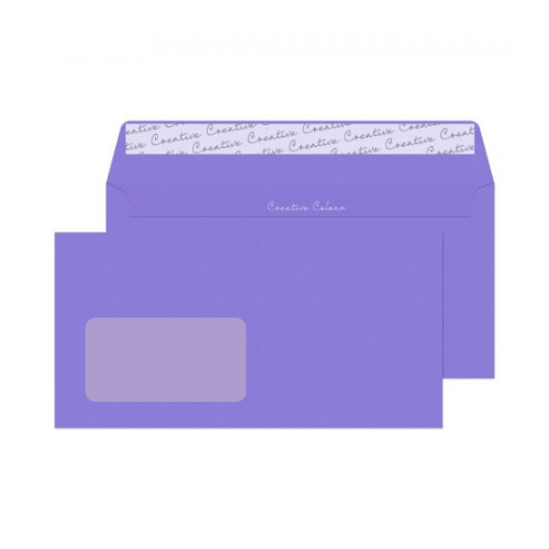 Blake Creative Colour Summer Violet Peel and Seal Wallet Window DL 114x229mm 120gsm (Pack 500)