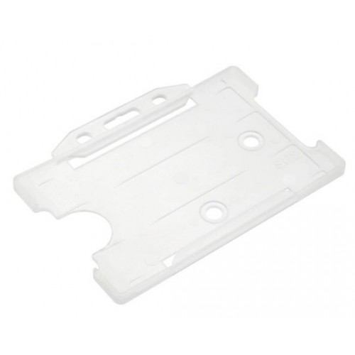 Clear Plastic Lanscape Card Holders- Pack of 100