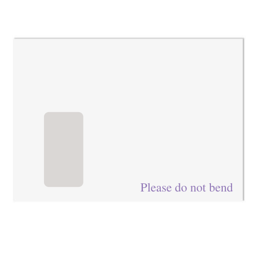 White Do Not Bend Envelopes- Pack of 125