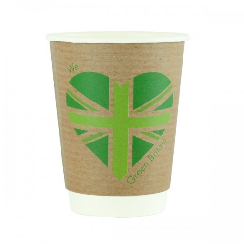 12oz Compostable Double Wall Coffee Cups- Pack of 500