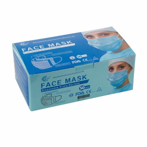 Case of Disposable facemasks.  40 boxes of 50 masks