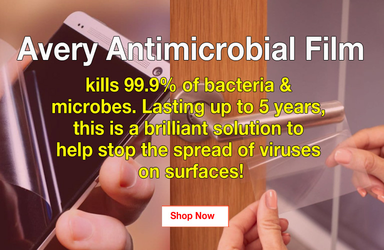 Avery antimicrobial film