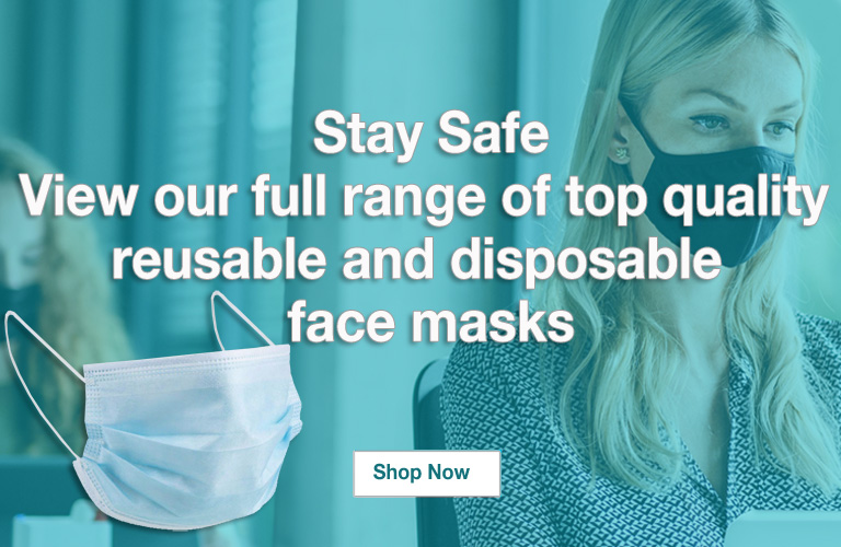 Reusable and disposable  face masks.