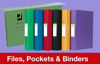 Files, Pockets and Binders