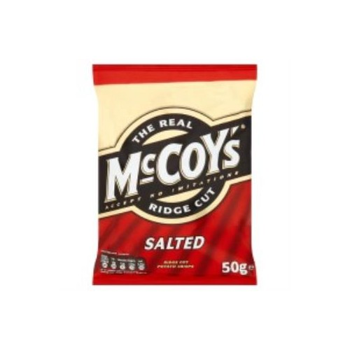 McCoys Ready Salted Crisps 47.5g bags - Pack of 26