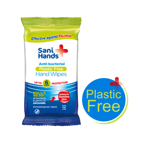 Sani Hands Antibacterial Wipes (Pack of 12 wipes)