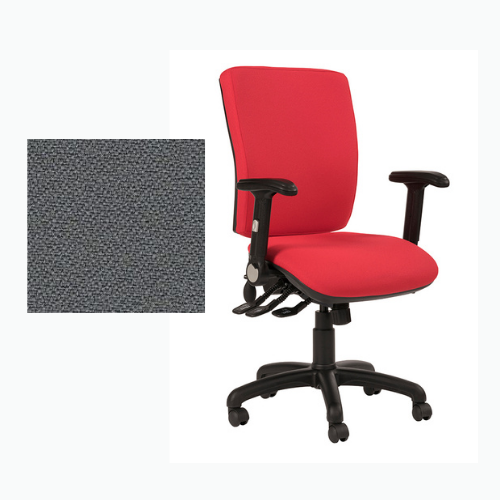 Ocean Square Back Fully Loaded Operator Chair - Phoenix Blizzard