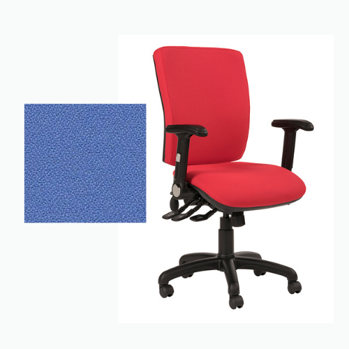 Ocean Square Back Fully Loaded Operator Chair - Phoenix Bluebell