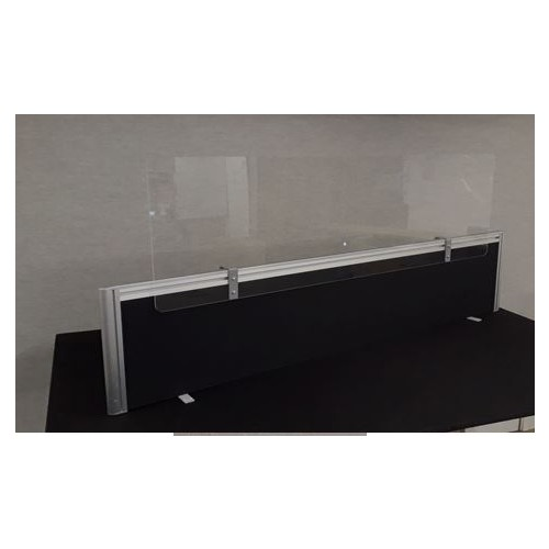 Sneeze Screen Acrylic Adjustable Extension Topper - for existing screen - 1600mm wide