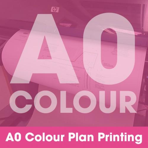 A0 Plan Printing - Colour