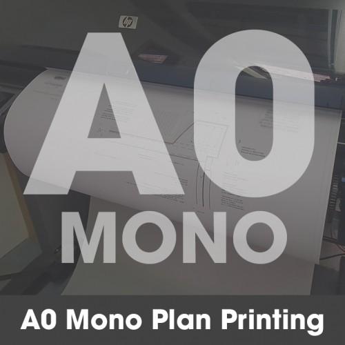 A0 Plan Printing - Black and White (Mono)