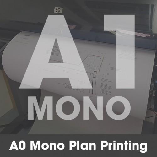 A1 Plan Printing - Black and White (Mono)