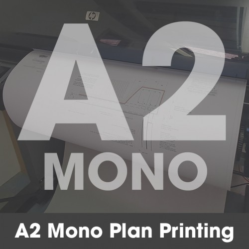 A2 Plan Printing - Black & White (Mono)