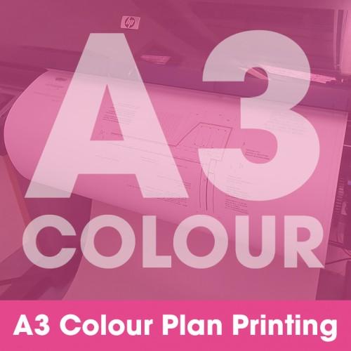 A3 Plan Printing - Colour