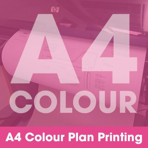 A4 Plan Printing - Colour