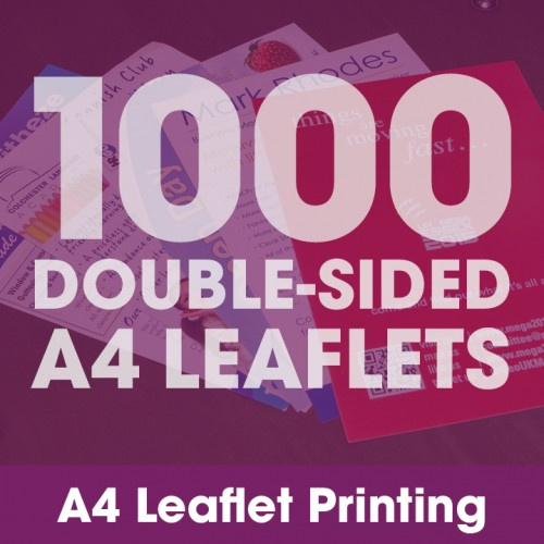 A4 Leaflets - 1000 Double-Sided Full-Colour