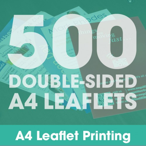 A4 Leaflets - 500 Double-Sided Full-Colour