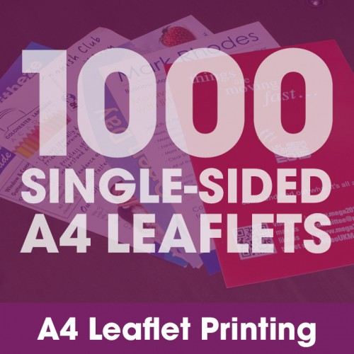 A4 Leaflets - 1000 Single-Sided Full-Colour