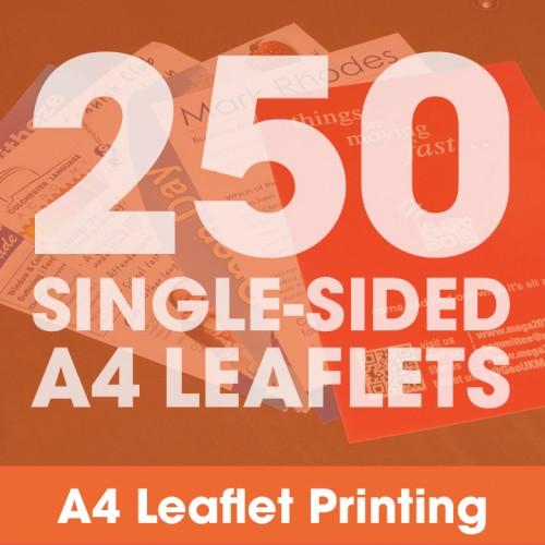 A4 Leaflets - 250 Single-Sided Full-Colour