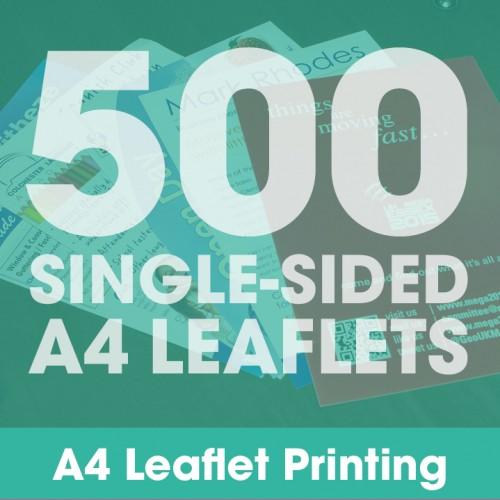 A4 Leaflets - 500 Single-Sided Full-Colour