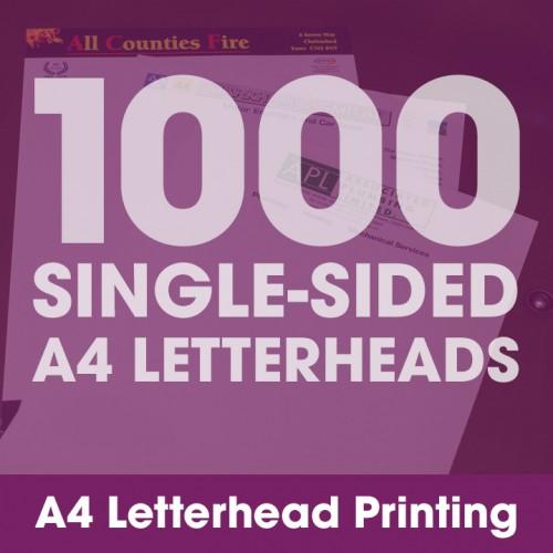 Letterheads - 1000 Single-Sided Full-Colour