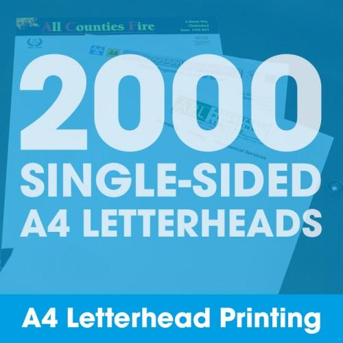 Letterheads - 2000 Single-Sided Full-Colour