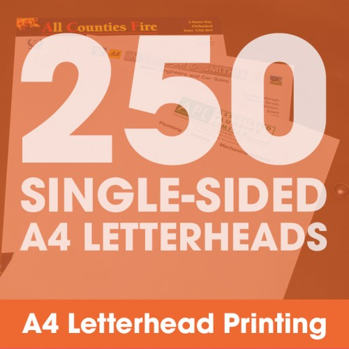Letterheads - 250 Single-Sided Full-Colour