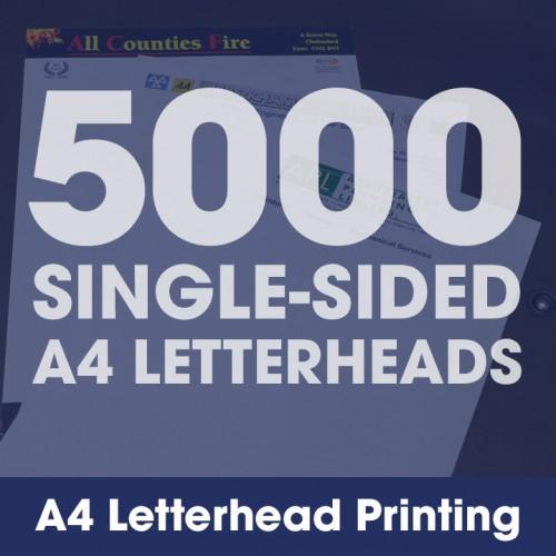 Letterheads - 5000 Single-Sided Full-Colour