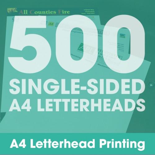 Letterheads - 500 Single-Sided Full-Colour