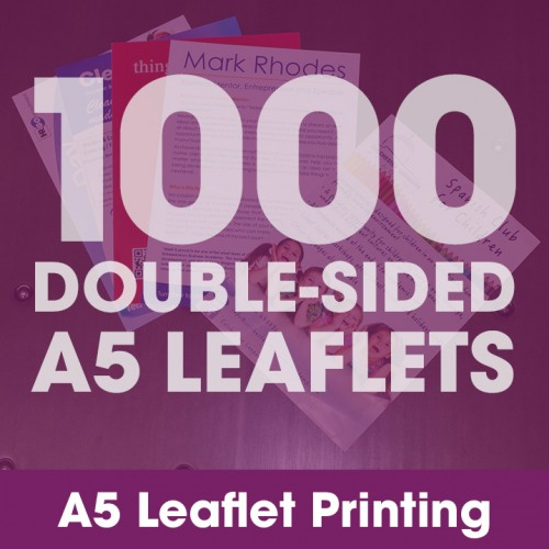 A5 Leaflets - 1000 Double-Sided Full-Colour