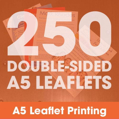 A5 Leaflets - 250 Double-Sided Full-Colour