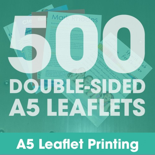 A5 Leaflets - 500 Double-Sided Full-Colour