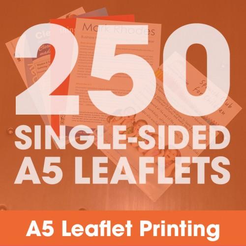 A5 Leaflets - 250 Single-Sided Full-Colour