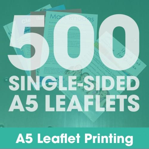 A5 Leaflets - 500 Single-Sided Full-Colour