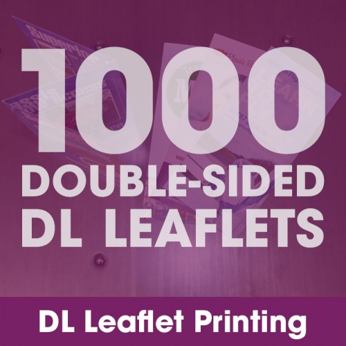 DL Leaflets - 1000 Double-Sided Full-Colour