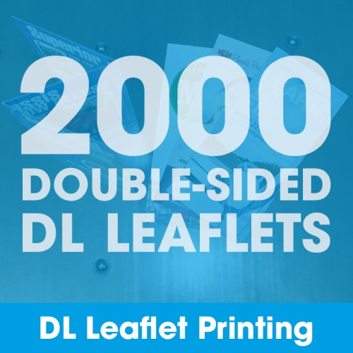 DL Leaflets - 2000 Double-Sided Full-Colour