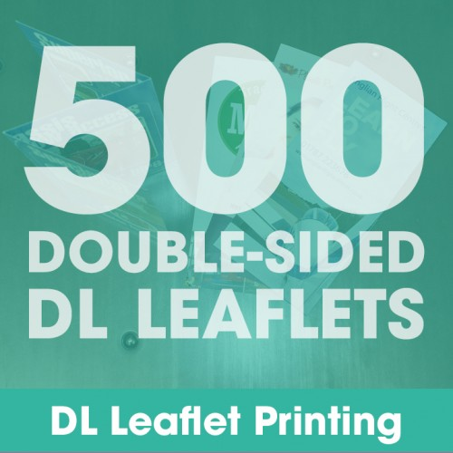 DL Leaflets - 500 Double-Sided Full-Colour