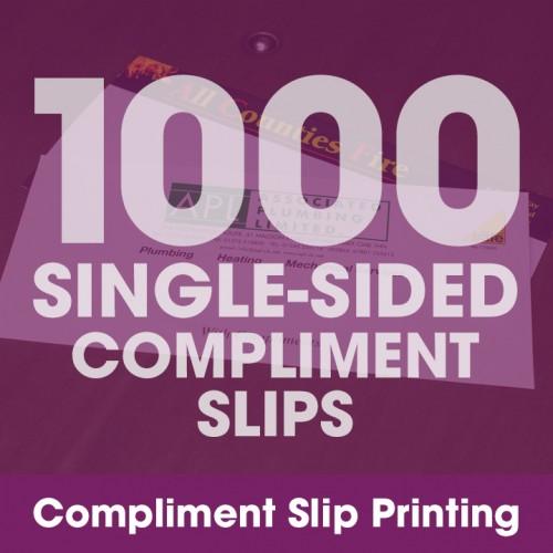 Compliment Slips - 1000 Single-Sided Full-Colour