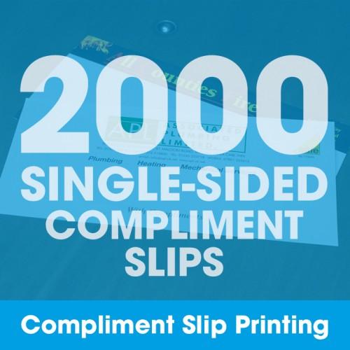 Compliment Slips - 2000 Single-Sided Full-Colour