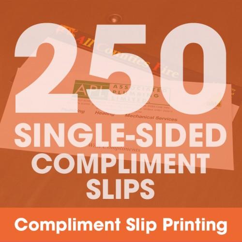 Compliment Slips - 250 Single-Sided Full-Colour