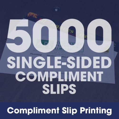 Compliment Slips - 5000 Single-Sided Full-Colour