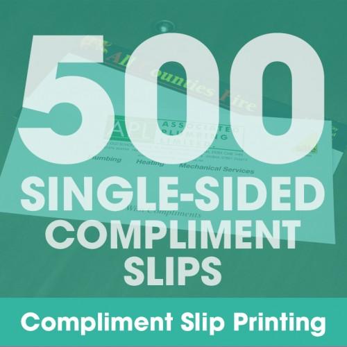 Compliment Slips - 500 Single-Sided Full-Colour