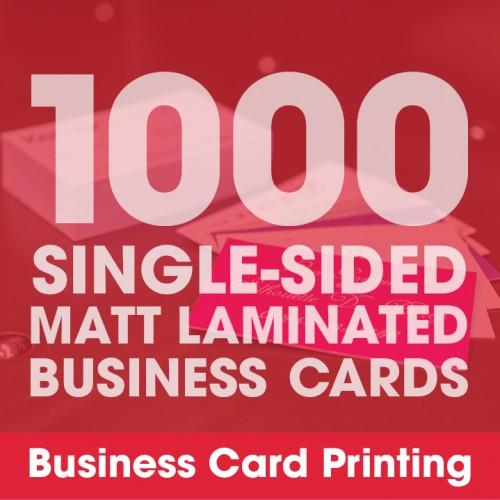 Business Cards - Matt Laminated 1000 Single-Sided