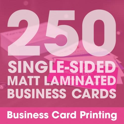 Business Cards - Matt Laminated 250 Single-Sided